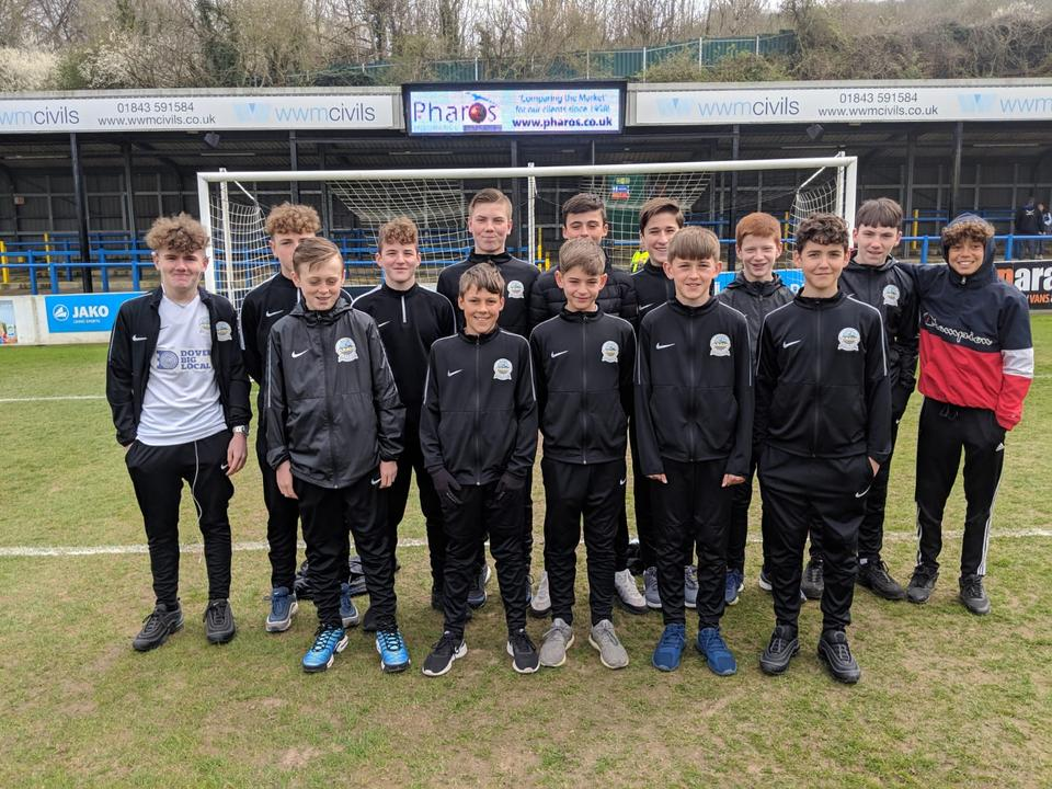 Dover Athletic Under 13s Go to Crabble